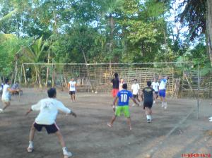 main Volley di kampung