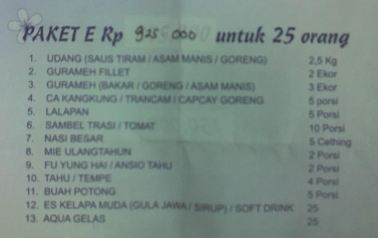 Salah satu paket menu Jambon Resto, yummiiii