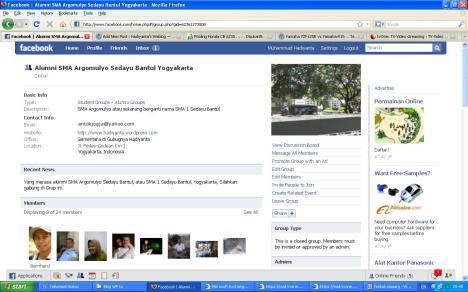 Facebook Grup Alumni SMA Argomulyo Sedayu mBantul Yogyakarta