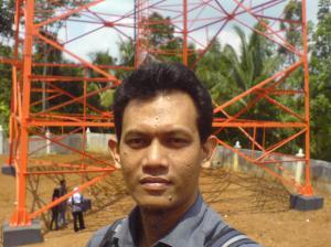 Nampang di dekat tower TVRI Jogja di Ngoro-Oro