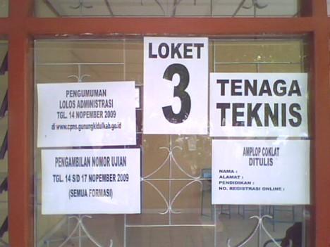 Loket 3 bagian TENAGA TEKNIS