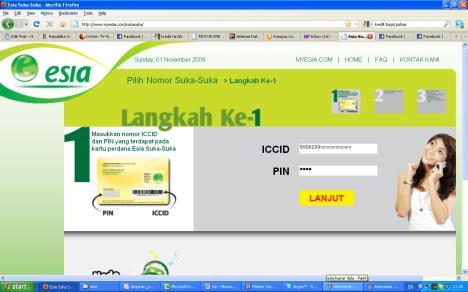 masukkan ICCID dan PIN