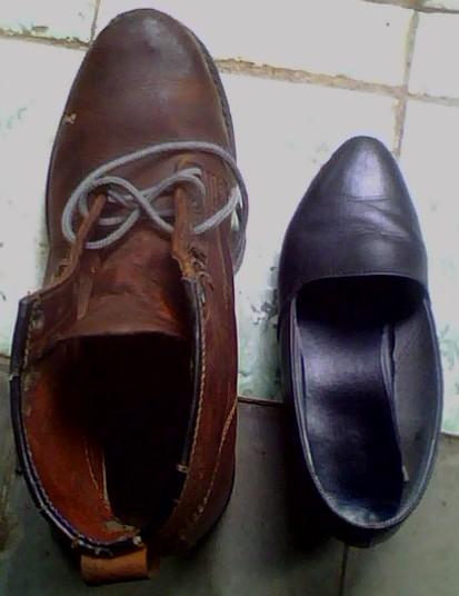 sepatuku vs sepatu istri :-)