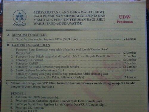 Tata Cara Mengurus Udw Di Taspen Yogyakarta
