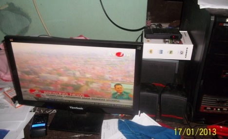 LCD View Sonic diberi receiver tv analog merk Gadmei