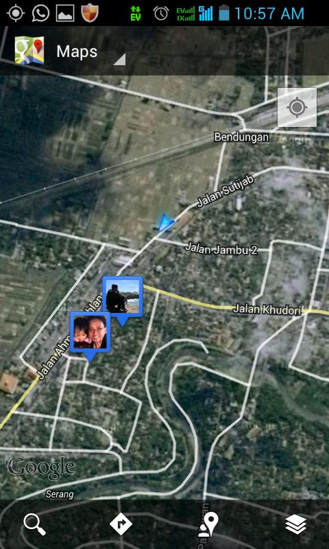 screencapture pas saya di kota Wates.