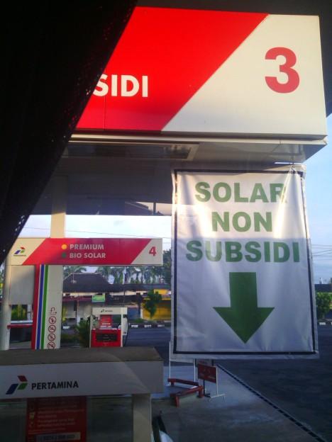 Dapat solar non subsidi pom bensin Wates