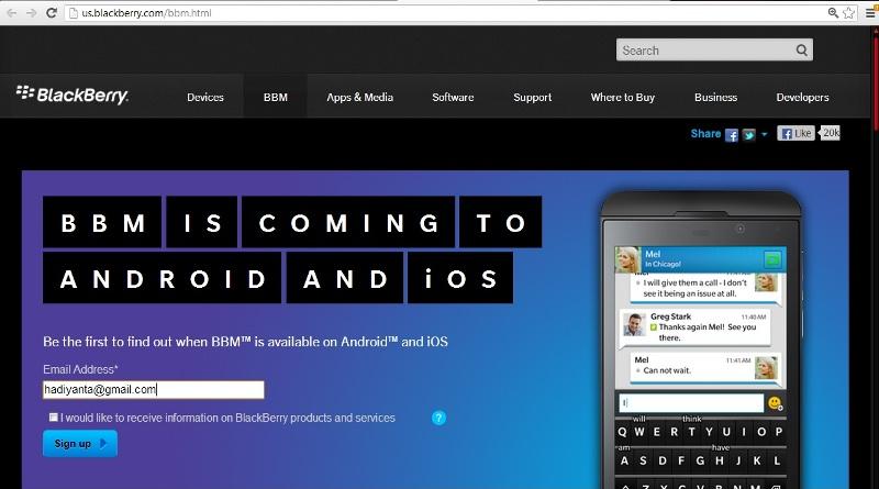 Cara Mendaftar Bbm Di Android Hadiyanta Com Blogger Commuter