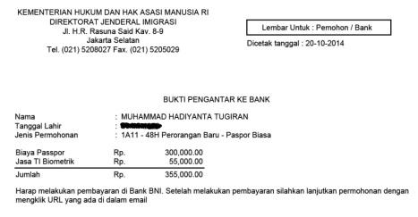 form pembayaran